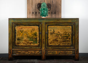 Antique Chinese Pine Shanxi Cabinet 64 x 16 x 39