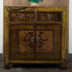 Chinese Lacquered Elm Small Cabinet