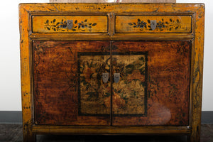 Chinese Lacquered Elm 2 Door Cabinet