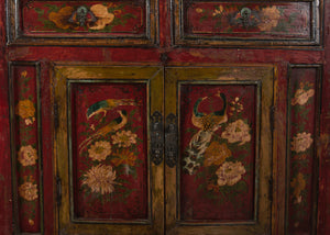 Antique Chinese Elm Hall Cabinet 33 x 17 x 37