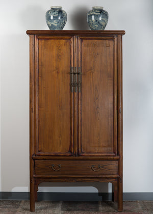 Antique Chinese Elm Noodle Cabinet