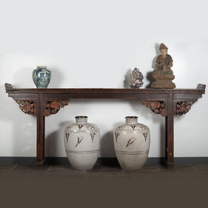 Antique Chinese Pine Carved Altar Table