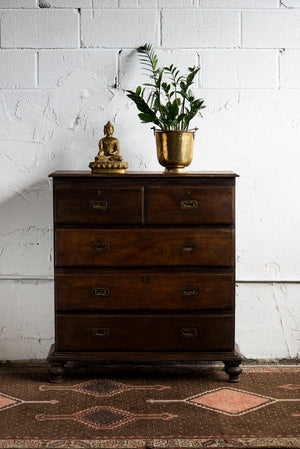 Antique Anglo-Indian Teak Chest of Drawers