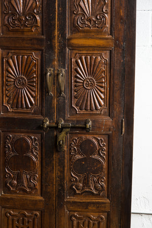 Antique Anglo-Indian teak armoire