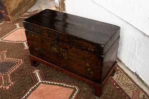 Antique Chinese Lacquered Pine Box