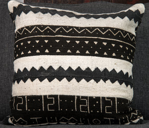 Vintage Mali Mud-cloth Pillow double-sided (c)