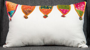Vintage Indian Textile made into pillow #1