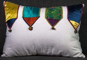 "Vintage Indian Textile made into pillow - 20"" x 15"""
