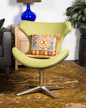 "Mid-century style ""Capri"" chair, covered in green wool"