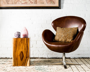 Organic monkey pod wood side table/stool