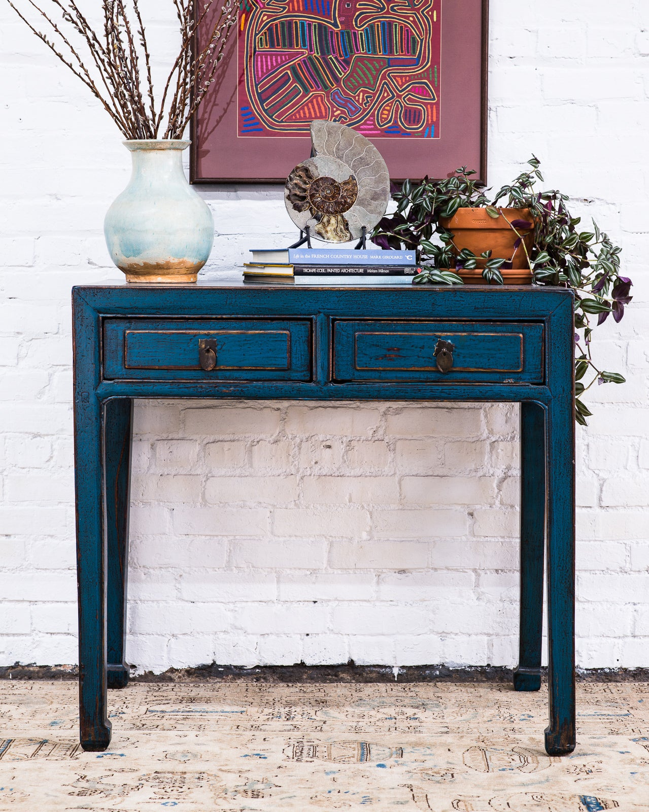 Antique Chinese Elm Hall Table - 1880-1900 | Sunnyside Trading Co