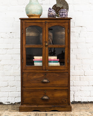 Antique Anglo-Indian small teak cabinet