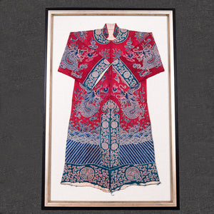 Antique Chinese framed silk robe