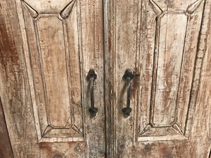 Indian Teak Cabinet made from antique doors