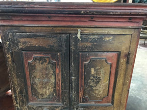 Antique Indian Small Teak Almirah/armoire