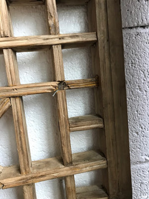 Vintage Chinese Elm Window 36 x 35 x 1