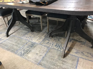 Industrial style oval end Dining Table