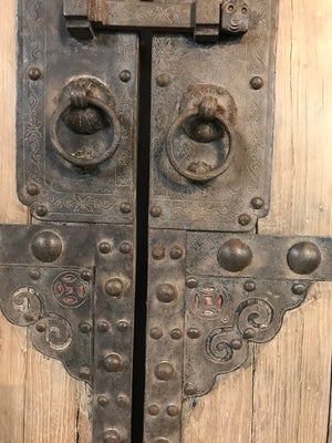 Antique Chinese Elm Garden Gate