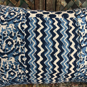 Bolster Pillow made from Kantha Fabric from India