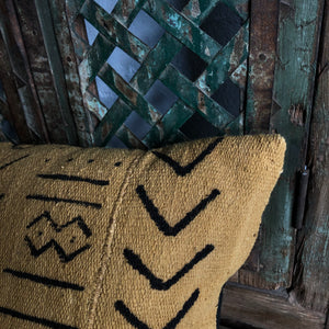 Bolster Pillow made from Vintage Mali Mudcloth #2