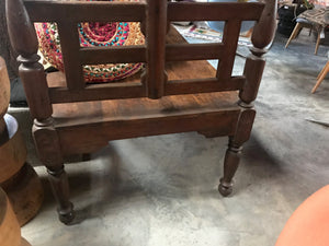 Vintage Indian teak child's bed