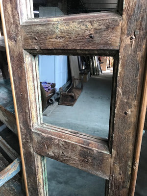Indian antique doors  now with mirrors in the panels