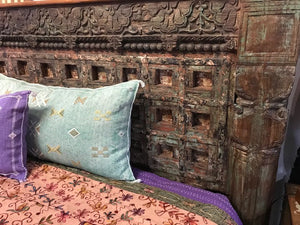 Indian King size bed made from antique doors