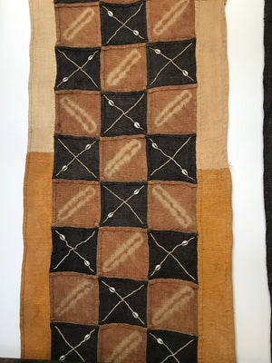 African Kuba cloth with Cowrie shells