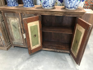 Indian buffet/cabinet constructed from antique doors