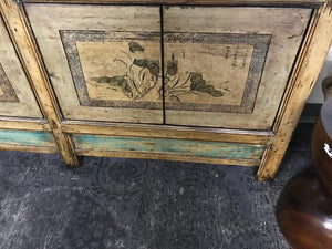 Vintage Chinese elm lacquer Cabinet