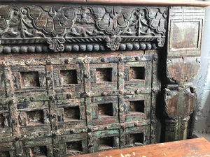 Indian King size bed made from antique teak doors