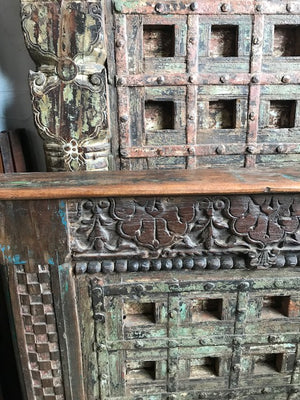 King size bed made from antique Indian doors