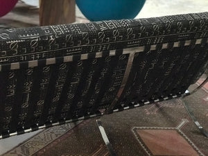 Mid-century style Barcelona Settee covered in Vintage West African Mud Cloth