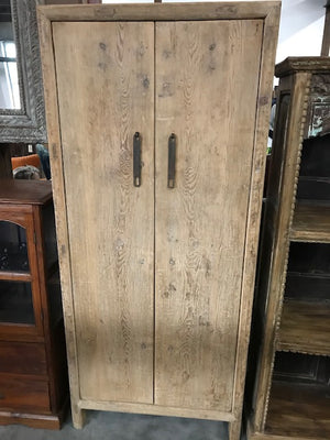 Reclaimed pine armoire in natural finish
