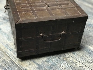 Antique Indian small teak wood chest