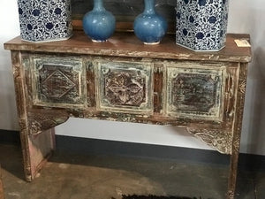 Indian Carved Teak wood Console Table