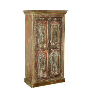 Antique Indian Teak small Armoire