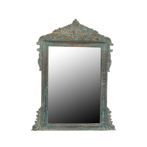 Vintage Indian carved and painted Mirror Frame