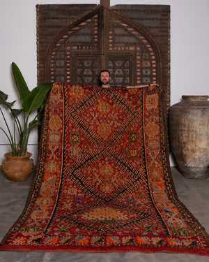 AVL Vintage Moroccan rug, a Berber Talsint from the middle Atlas mountains. 10'3'' x 6'6''