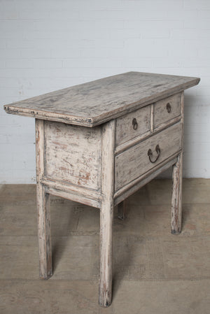 Antique Chinese rustic painted hall table