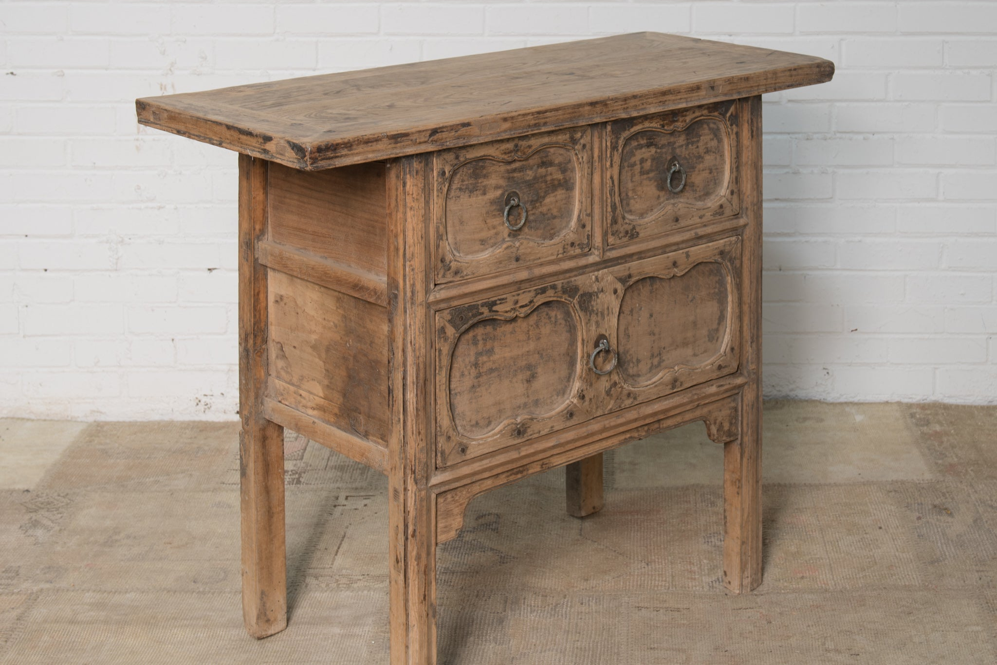 antique hall table.  Antique Antique Chinese Rustic Elm Hall Table And Hall Table E