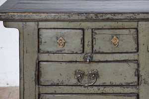 Antique Chinese lacquered chest of drawers