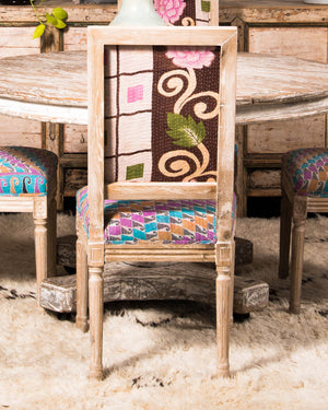 Vintage kantha dining chair