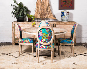 Kantha Patchwork dining chair, 12 available