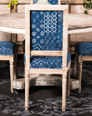 Set of 6 Kantha Patchwork dining chairs