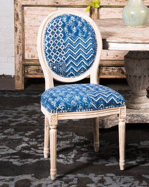 Kantha Patchwork dining chair, 2 available