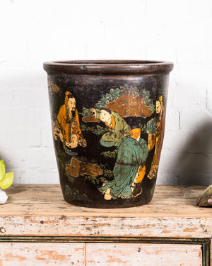 Antique Chinese terracotta large pot