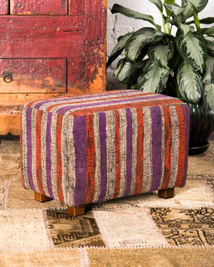 Recycled cotton ottoman Rectangle