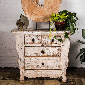 Antique Chinese rustic painted chest of drawers, Shanxi province, Qing Dynasty, c. 1880. 40w x 18d x 33.5h