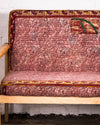 Mid-century style settee covered in vintage kantha textiles